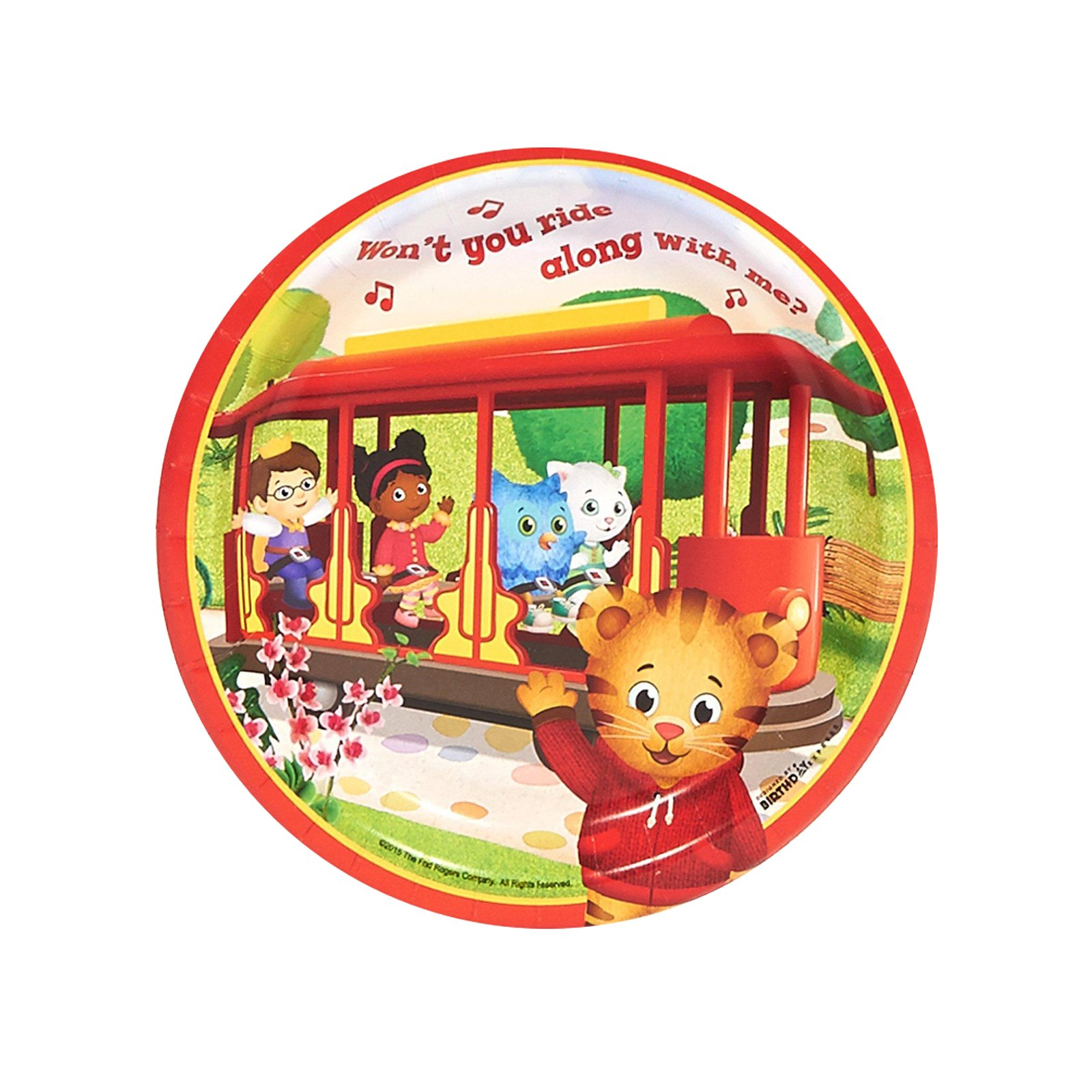 BirthdayExpress Daniel Tigers Neighborhood Party Supplies - Dessert Plates (48)