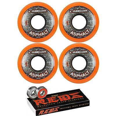 Labeda Asphalt Inline Roller Hockey Wheels 59mm Orange 85A 4-Pack Bones Reds : Sports & Outdoors