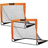 EliteGo Portable Soccer Goal | Instant Pop Up Net | Fiberglass Poles, Sets of 2