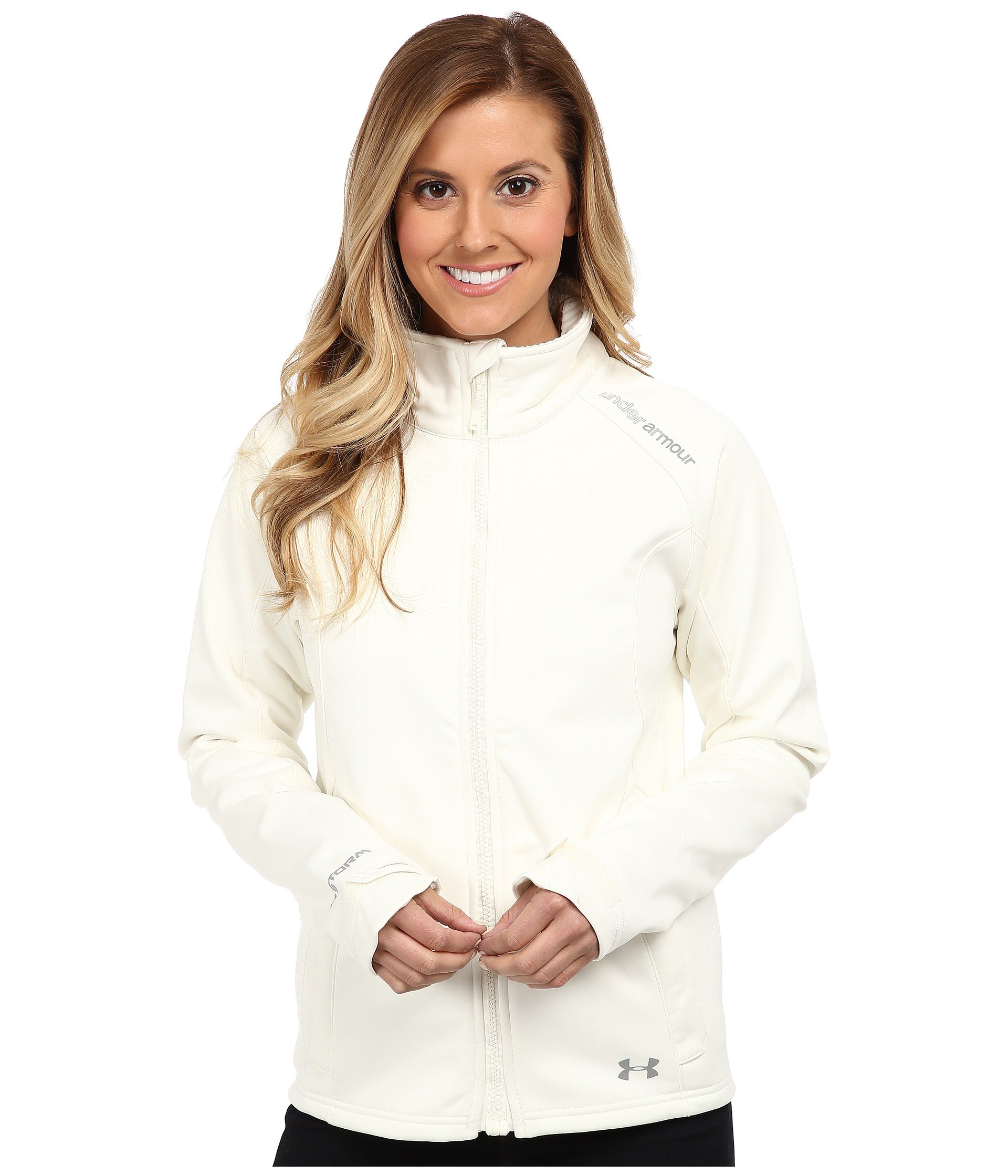 Under Armour Women's UA ColdGear Infrared Softershell Jacket, Ivory Steeple Gray, XS (US 0-2)