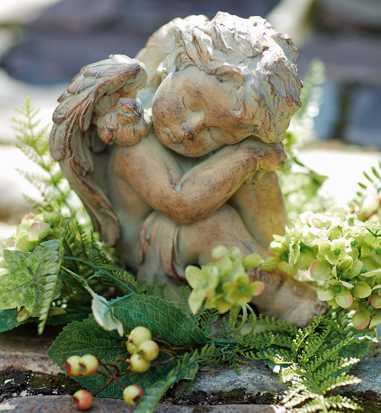 Sculpture – Sleeping Cherub Sculpture – Cherub Garden Statue – Cherub Figurine B00CCIEP6I