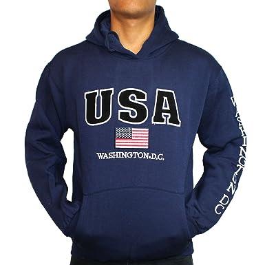 53508a177 Washington DC Navy USA Hoodie (No-Zip) at Amazon Men's Clothing store: