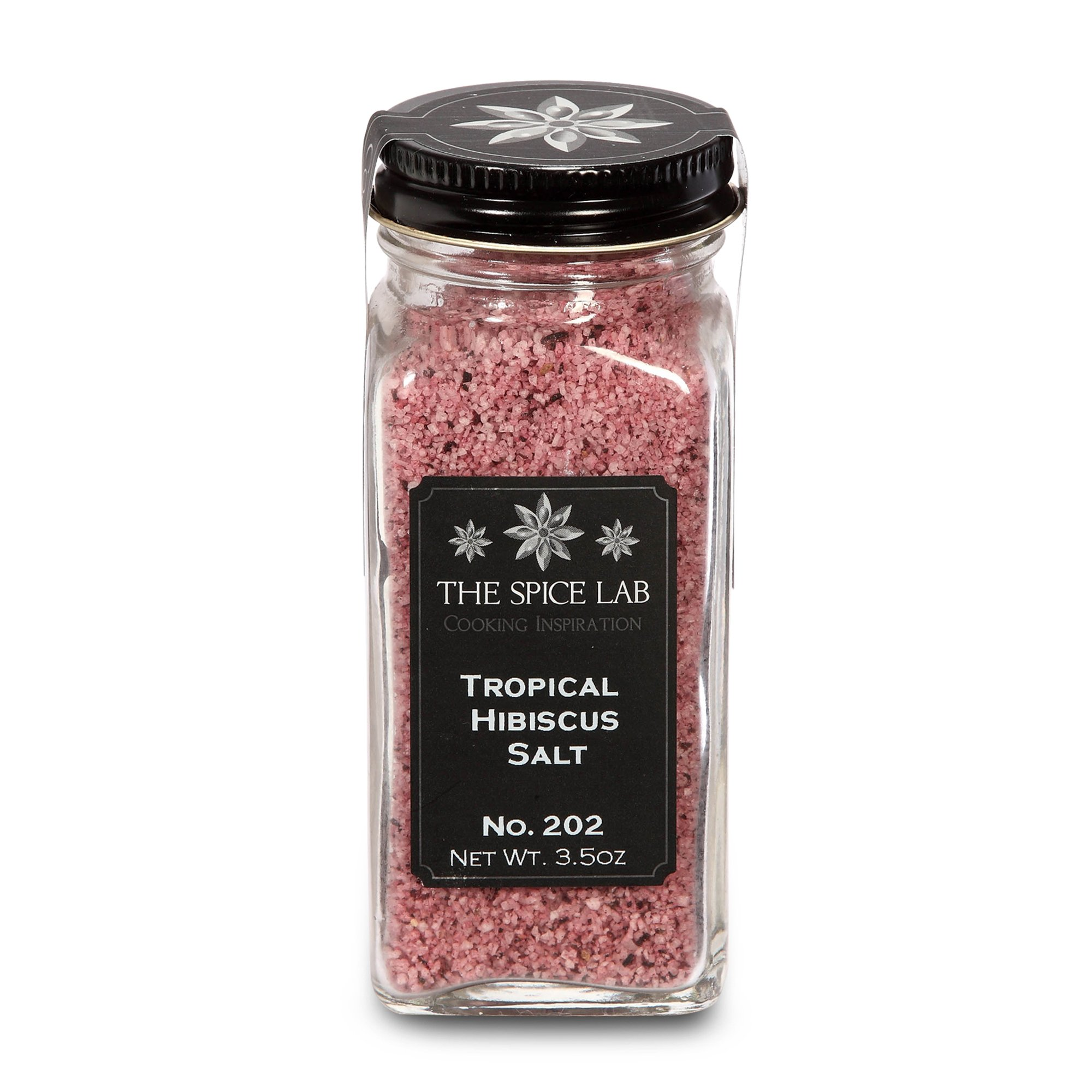 The Spice Lab No. 202 - Tropical Hibiscus Salt - Gluten-Free Non-GMO All Natural Premium Gourmet Salt - French Jar