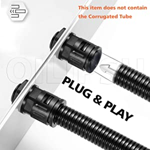 QILIPSU Nylon Quick Connector AD21.2-PG16, for 10mm Corrugated Tube/Plastic Flexible Pipe/Electrical Conduit (AD21.2-PG16, 10pcs)