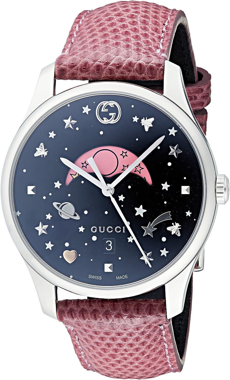 Gucci Reloj Fase Lunar para Mujer de Cuarzo con Correa en Cuero YA1264046