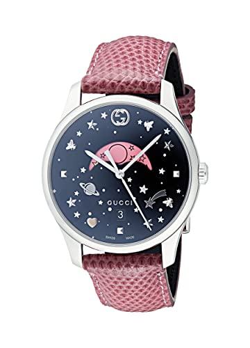 47a40c478f3 Gucci Womens Moon Phase Quartz Watch with Leather Strap YA1264046   Amazon.co.uk  Watches