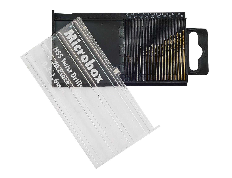Rolson 48304 Micro HSS Drill Bit Set - 20 Pieces