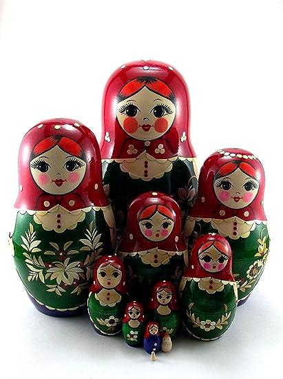 Amazon.com: Muñecas de Navidad para niños ruso Matryoshka ...