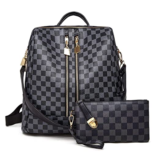 00c2c901670c Backpack for women Fashion Leather Ladies Rucksack Crossbody Shoulder Bag  2pcs Purses Backpack Set