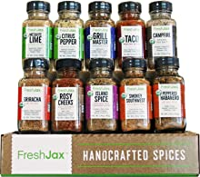 FreshJax Gourmet Spice Gift Set, Meat Steak Lover Seasonings Sampler (Meat 10 Spice Gift Set)