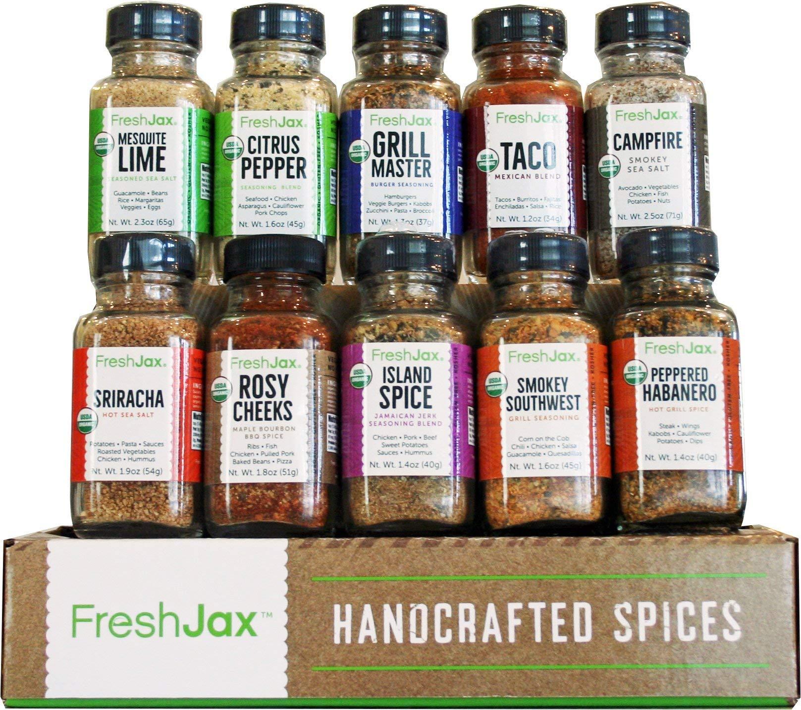 FreshJax Gourmet Spice Gift Set, Meat Steak Lover Seasonings Sampler (Meat 10 Spice Gift Set) by FreshJax
