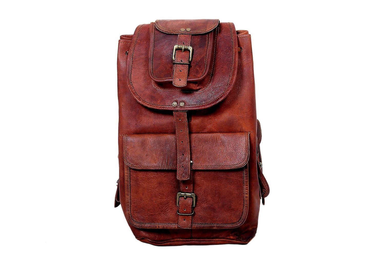 20Handarbeit aus echtem Leder Rucksack Rucksack College Bag Reisetasche Laptoptasche zum Verkauf Dunkelbraun - Jerry Leder