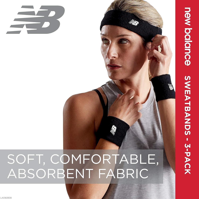 Amazon.com : New Balance Sweatbands 3 Pack - Sweatband Set ...