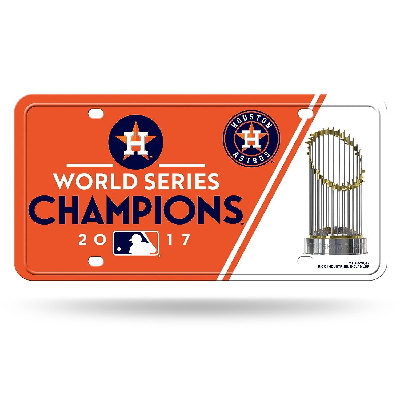Houston Astros 2017 World Series Champions Metal License Plate Tag Sign MLB