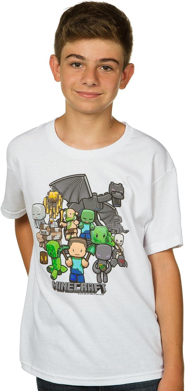 MINECRAFT Party Dragon Shirt Boys XS-6//7 S-8  M-10//12  L14//16  XL-18//20 CREEPER