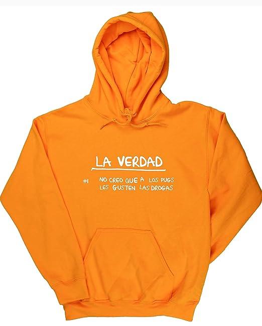 No Creo Que A Los Pugs Les Gusten Las Drogas jersey sudadera con capucha suéter derportiva unisex: Amazon.es: Ropa y accesorios