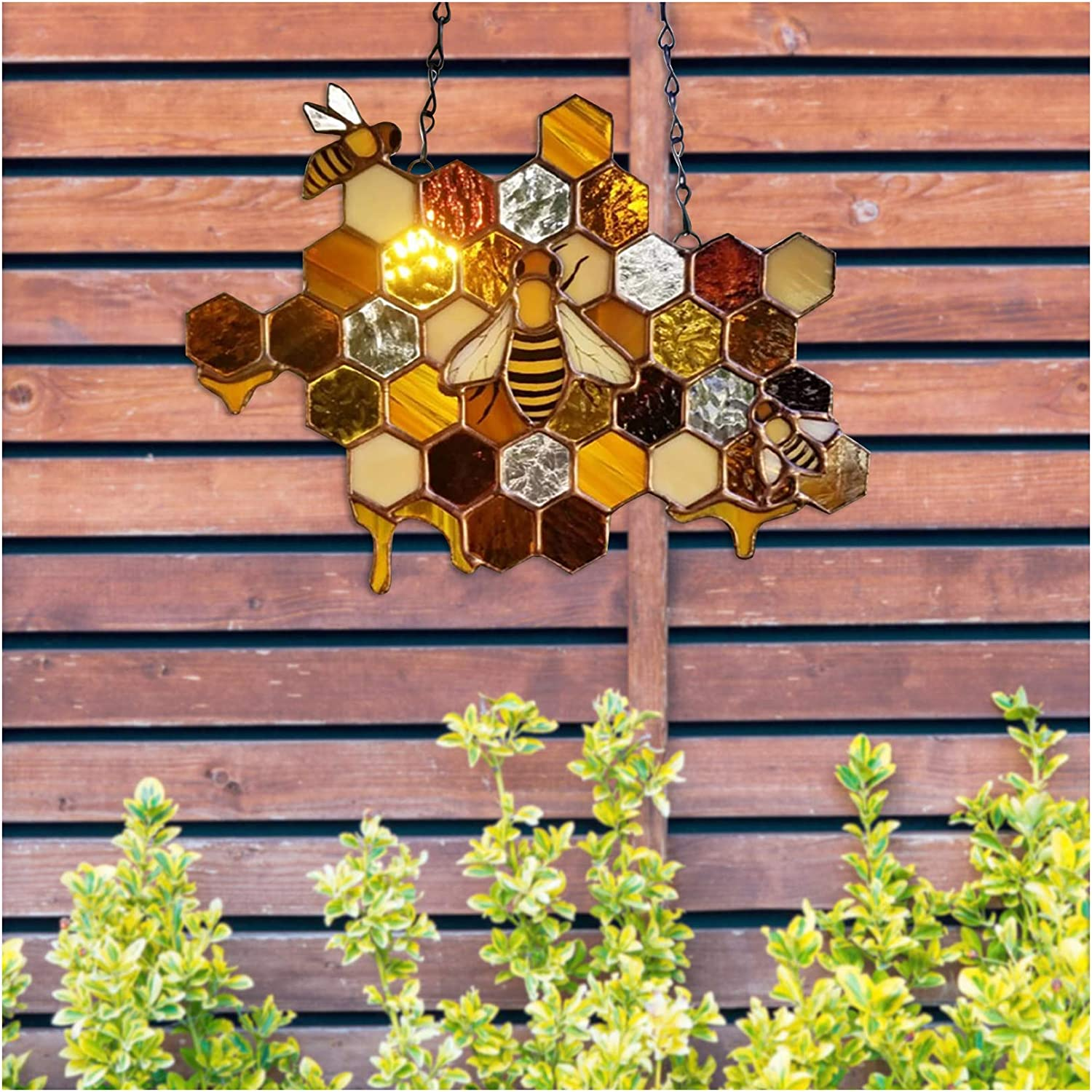for Front Door Decorations for Restaurant Home Outdoor 10.2x5.9inch 2Pcs Happy Bees Day Sign Hanging Sign Indoor Outdoor Door Hanging Decoration Bee Welcome Sign Front Door Decor