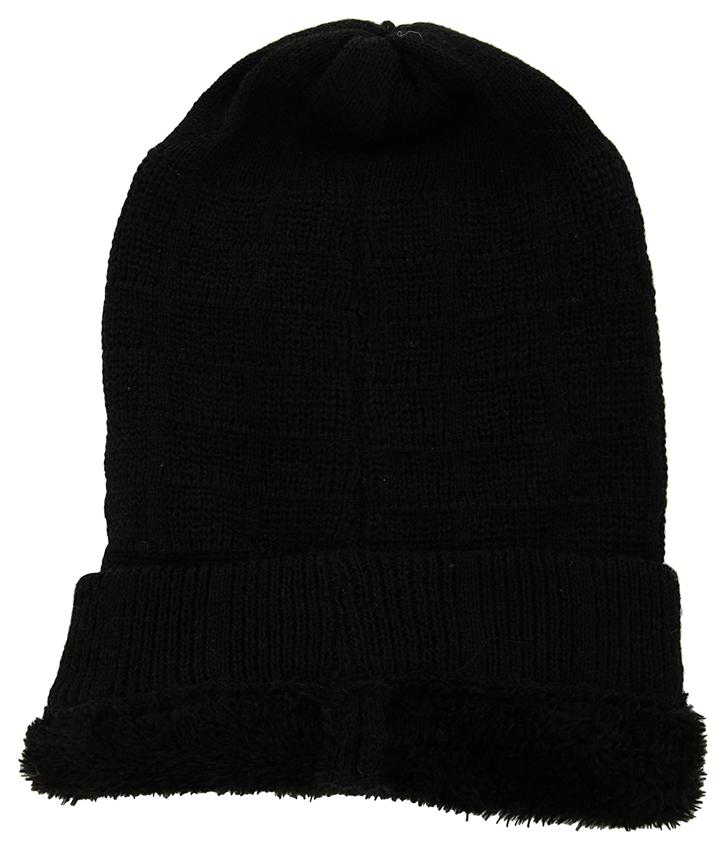 ae2550caeca Zacharias Unisex Woolen Beanie Cap Black  Amazon.in  Clothing   Accessories