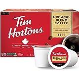 Tim Hortons Original Blend, Medium Roast Coffee, Single-Serve K-Cup Pods Compatible with Keurig Brewers, 80ct K-Cups