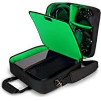 USA Gear Console Carrying Case - Xbox Travel Bag Compatible with Xbox One and Xbox 360 with Water Resistant Exterior and…