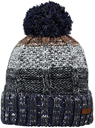 39905de902c58 Barts Hats Vista Bobble Hat - Navy-Grey 1-Size  Amazon.co.uk  Clothing