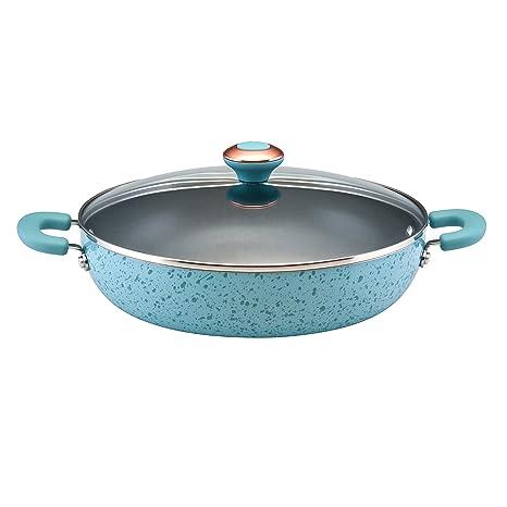 Amazon.com: Paula Deen Signature Porcelain Nonstick 12-Inch Covered Chicken Fryer, Aqua Speckle: Pans: Kitchen & Dining
