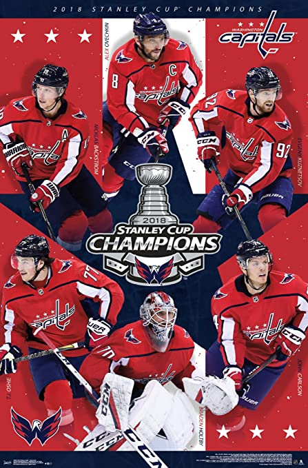 Trends International 2018 Stanley Cup Washington Capitals Champions Wall Poster 22 375