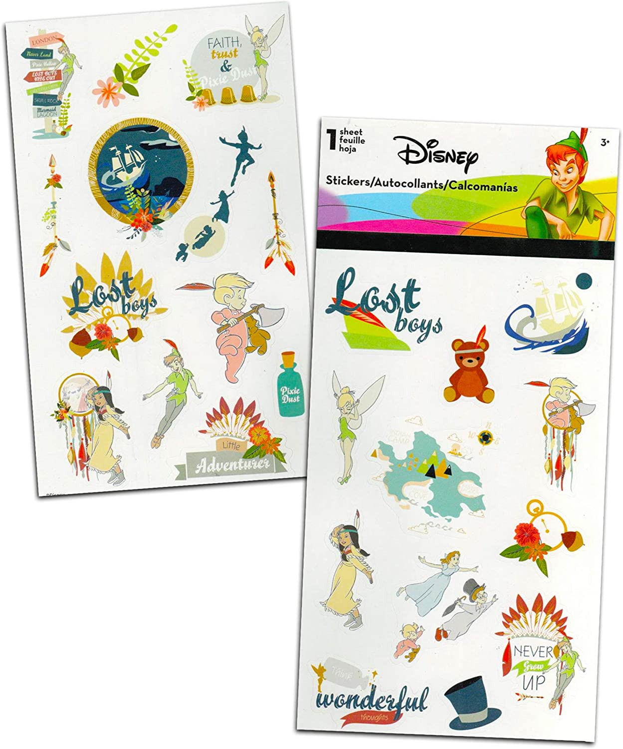 Disney Peter Pan Sticker and Tattoos Party Favors Super Set ~ Bundle Includes Over 200 Peter Pan Temporary Tattoos and Stickers Peter Pan Party Supplies