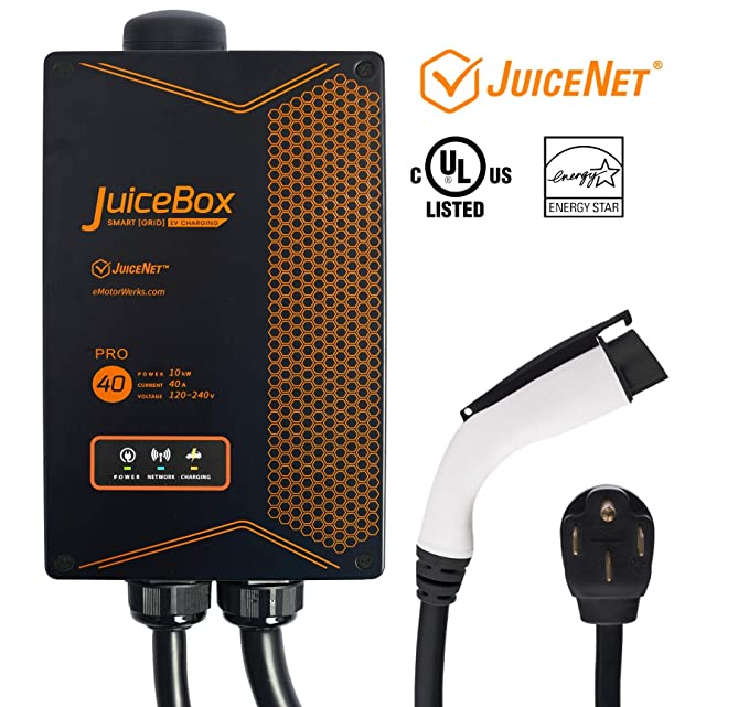 Amazon juicebox pro 40 with juicenet wifi equipped 40 amp ul amazon juicebox pro 40 with juicenet wifi equipped 40 amp ul listed electric vehicle charging station evse with 24 foot cable and nema 14 50 plug fandeluxe Choice Image