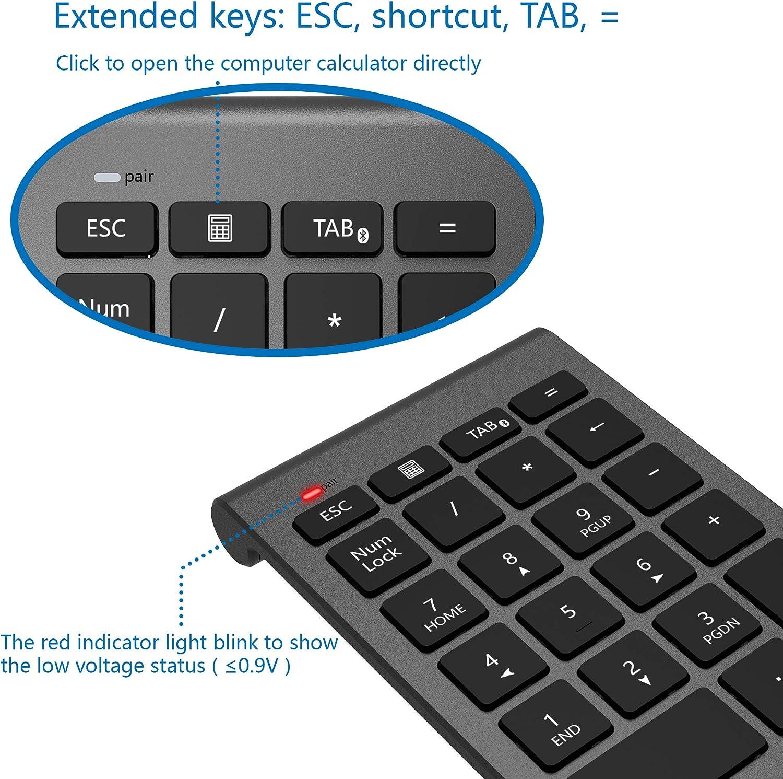 CATECK numérico inalámbrico Bluetooth,Teclado numérico 22 Teclas ...