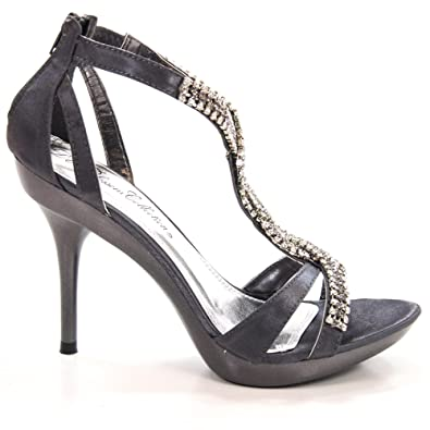 Sanyo54 Rhinestone Encrusted Strappy Open Toe Formal Dress Sandal