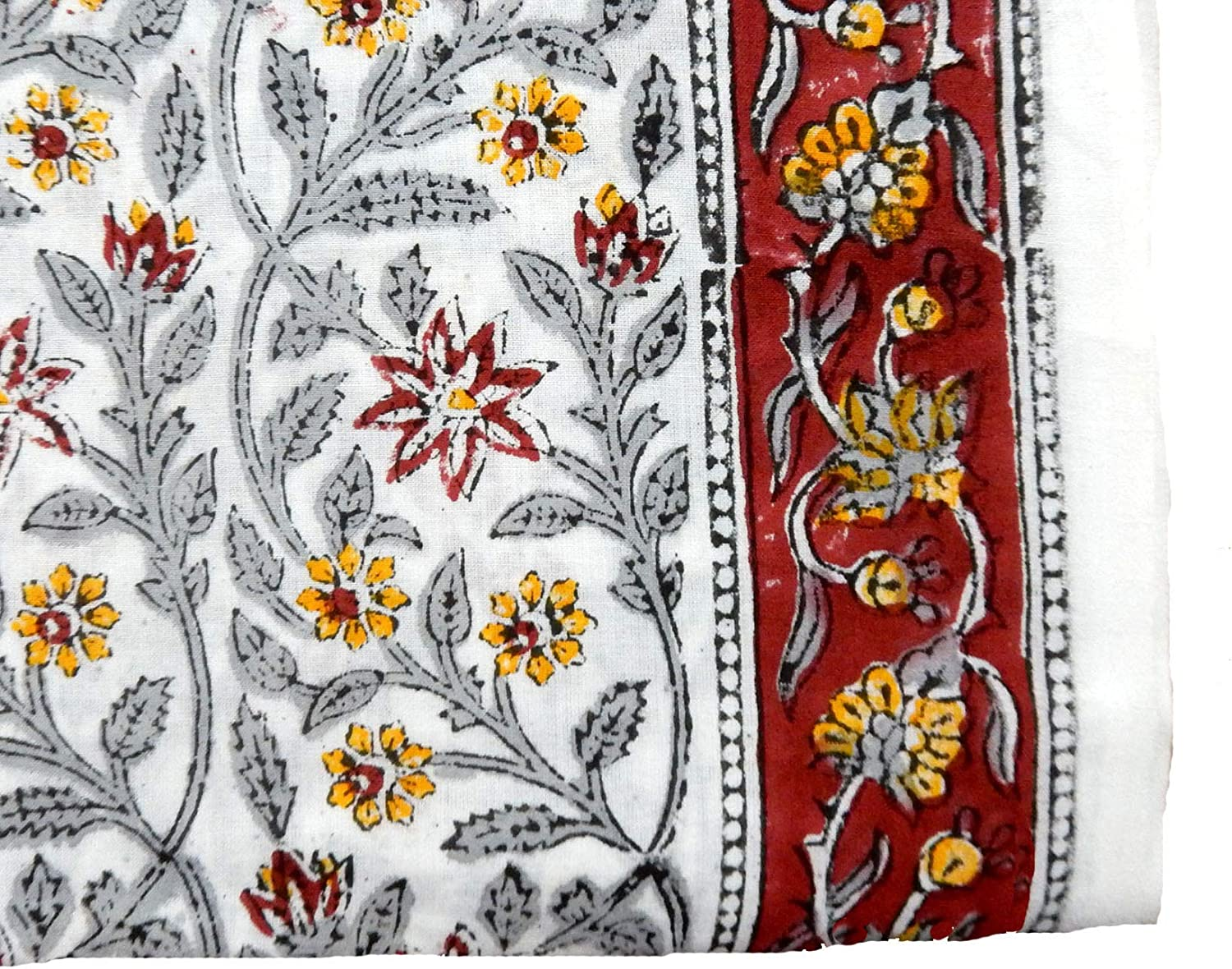 Pailsey Print Dressmaking Indian Decor Cotton Fabric Sewing Material By Yard