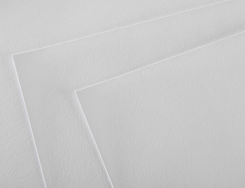 Canson 1557 A4 bianco puro 120 g Blocco da 50 fogli di carta da disegno bianco puro Grammatura: 120 g//m/² 21 x 29,7 cm grana leggera
