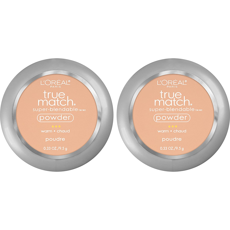 L'Oreal Paris Cosmetics True Match Super-Blendable Powder, Natural Beige, 2 Count