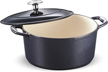 Tramontina Enameled Cast Iron Covered Round Dutch Oven 5.5-Quart