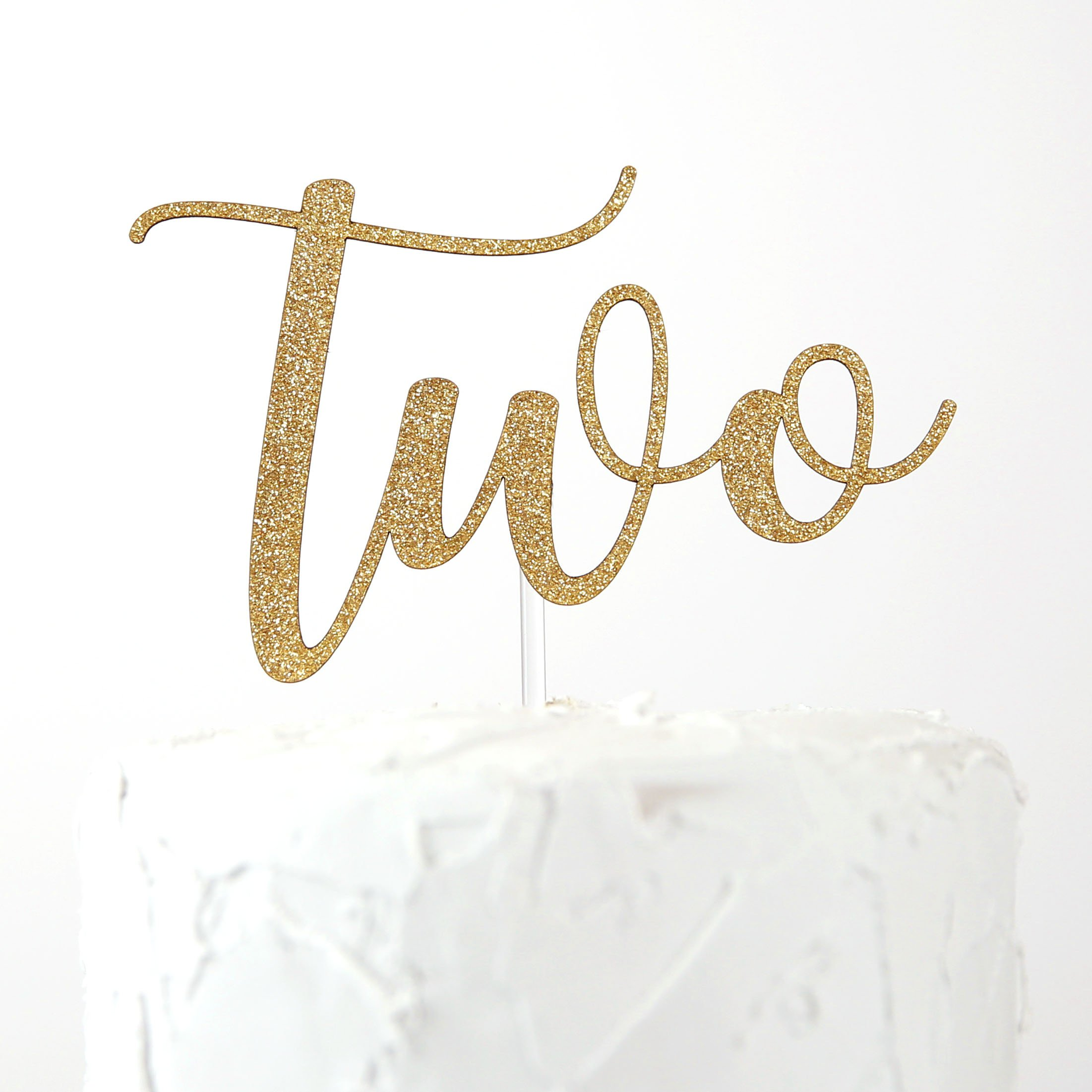 NANASUKO 2nd Birthday Cake Topper - two - Premium quality Made in USA