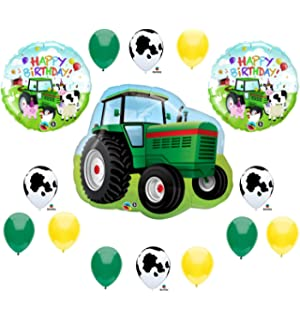 Tractor Birthday Party Balloons Decorations Farm Animal Cow John Deere Shower Multi 1