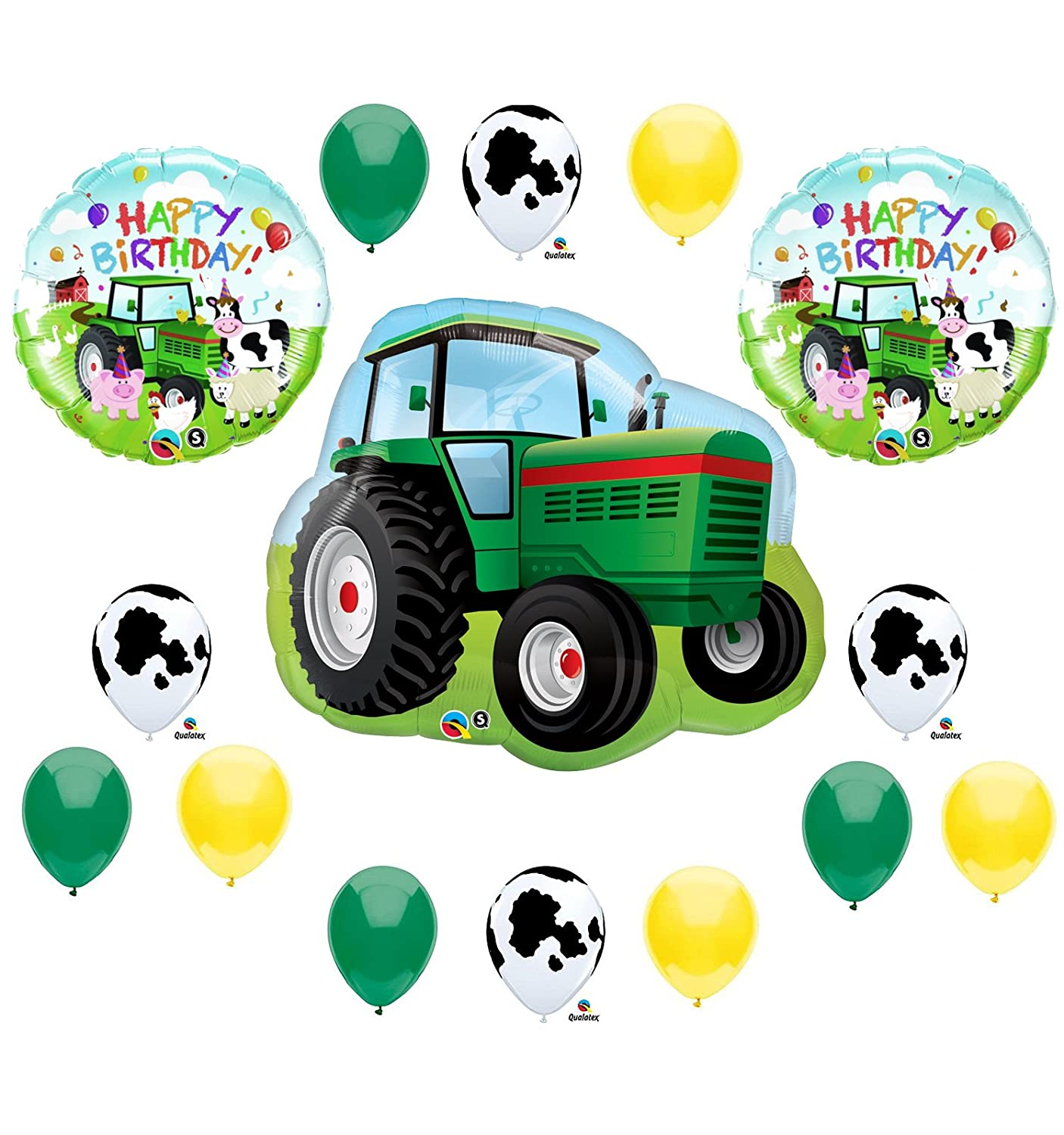 Tractor Birthday Party Balloons Decorations Farm Animal Cow John Deere Shower (MULTI, 1) by Anagram COMINHKPR11902