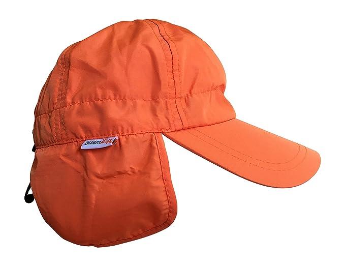 f6ab242673d Amazon.com  SwimZip Shady Days Flap Sun Hat UPF 50+ Orange 0-3 Month ...