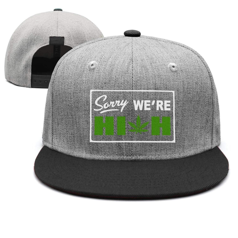 TylerLiu Baseball Cap Sorry Were High Marijuana 420 Snapbacks Truker Hats Unisex Adjustable Fashion Cap