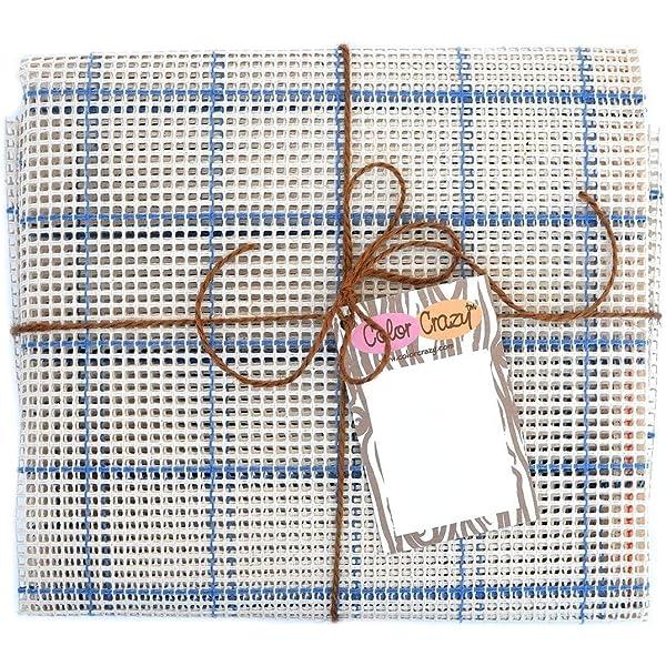 LoveinDIY 2Pcs Rug Making Canvas DIY Hooking Free Pattern Rug Mesh Canvas 45 x 45cm Round