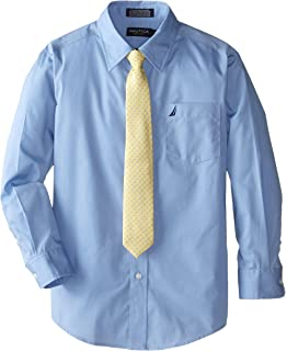 8d7d371fe Amazon.com: IZOD Boys' Long Sleeve Solid Shirt and Tie Set: Clothing