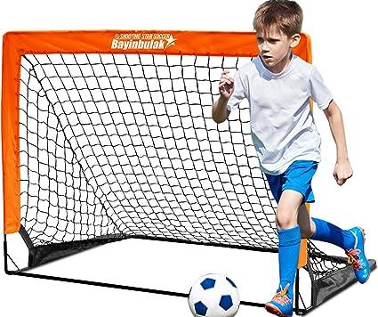 1 Pack BAYINBULAK Soccer Goal Pop Up Soccer Net for Kids Backyard