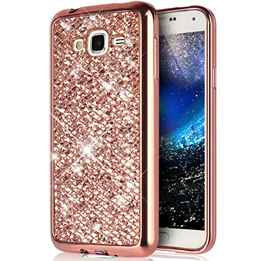 Carcasa Galaxy Grand Neo Plus/Grand Neo/Grand Lite,ikasus Brillante Brillo Bling Diamond Plating metal cromado TPU Bumper Silicona Fundas Skin Cover ...
