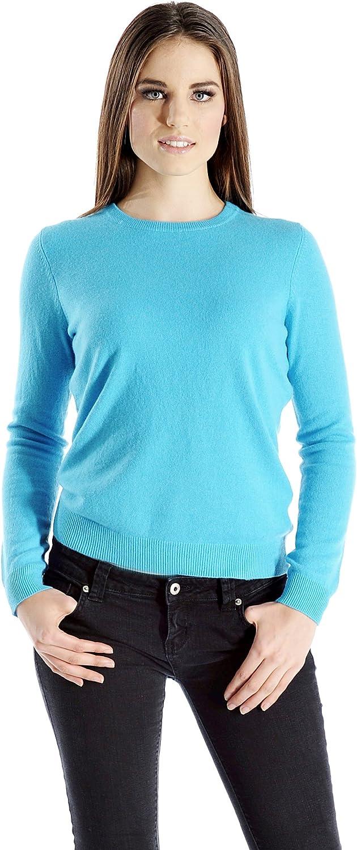 Cashmere Boutique: Women's 100% Pure Cashmere Crew Neck Sweater (5 Colors, Sizes: SMLXL)