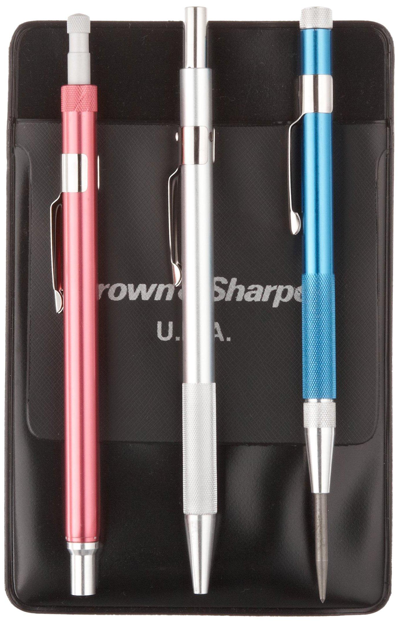 Brown & Sharpe 599-774 3 Piece Pocket Scribing Tool Set