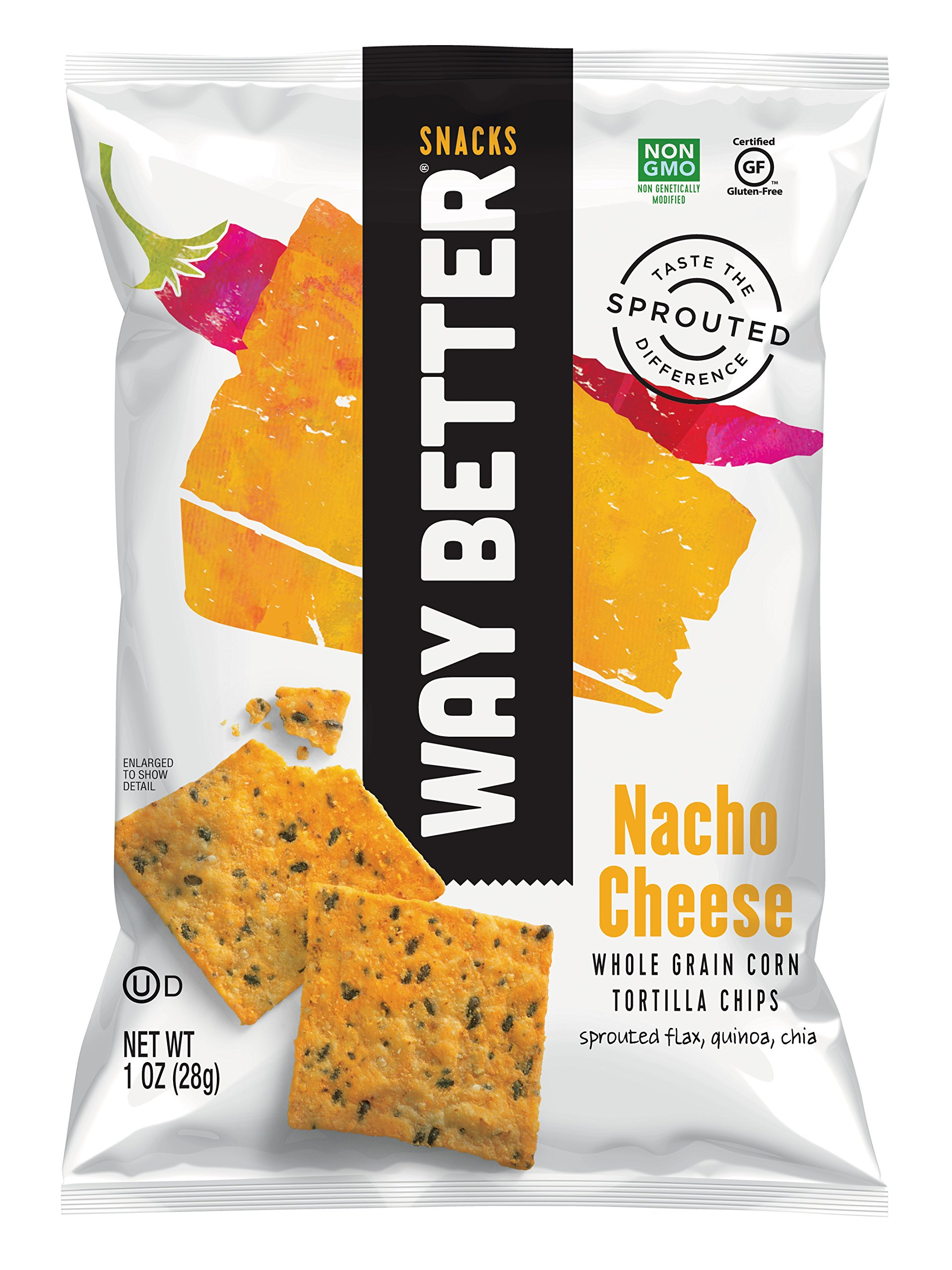 Way Better Snacks Sprouted Gluten Free Tortilla Chips, A Nacho Above, 1 Ounce (Pack of 12) by Way Better Snacks
