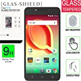 Alcatel A50 / Alcatel Pulsemix [Tempered Glass] Screen [9H] HD Clear Clarity and Touchscreen .03mm Tempered Glass Protector [GLAS SHIELD] Alcatel A50 / Alcatel Pulsemix