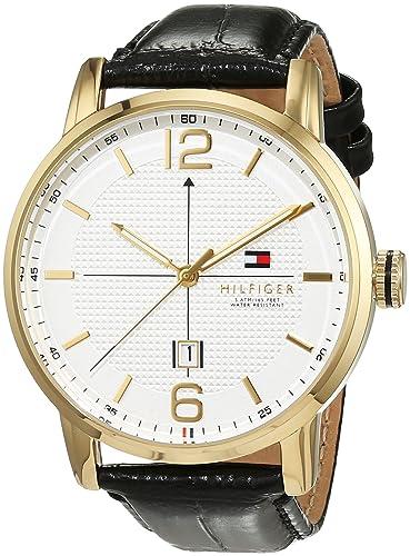 Reloj analógico para hombre Tommy Hilfiger 1791218, mecanismo de cuarzo, diseño clásico, correa de piel.: Amazon.es: Relojes