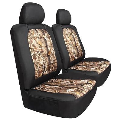 Pilot Automotive SCT-445CA Black/Tan Camo Canvas Seat Covers - 6 Pieces, 1 Pack: Automotive